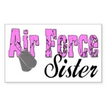 Air Force Sister Rectangle Sticker