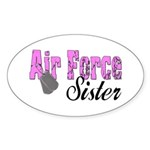 Air Force Sister Oval Sticker