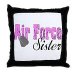 Air Force Sister  Throw Pillow