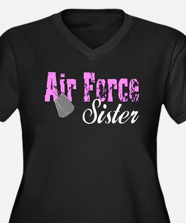 Air Force Sister Women's Plus Size V-Neck Dark T-