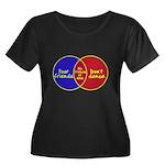 We Can D Women's Plus Size Scoop Neck Dark T-Shirt