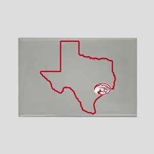 University of Houston Texas Outli Rectangle Magnet