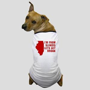 FUNNY ILLINOIS SHIRT ILLINOIS Dog T-Shirt