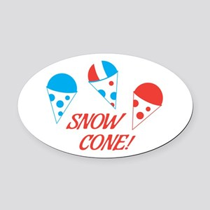 Snow Cones Oval Car Magnet