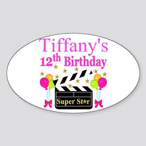 PERSONALIZED 12TH Sticker (Oval)