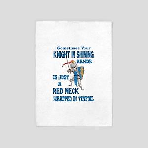 Knight In Shining Armor 5'x7'area Rug