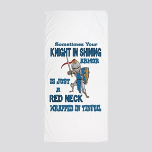 Knight in Shining Armor Beach Towel