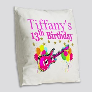 PERSONALIZED 13TH Burlap Throw Pillow