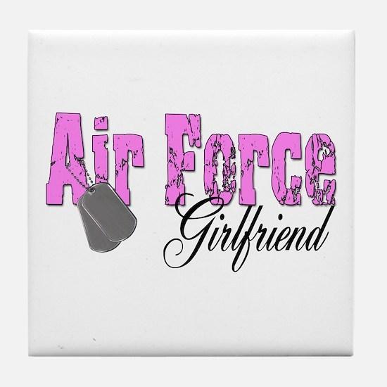 Air Force Girlfriend Tile Coaster