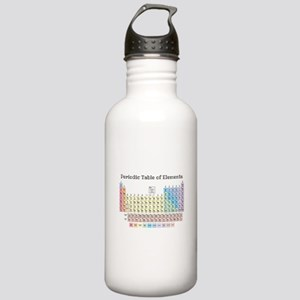 Periodic Table of elements in Pastel Water Bottle