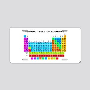 Periodic Table of Elements in Neon Aluminum Licens