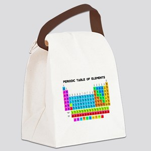 Periodic Table of Elements in Neon Canvas Lunch Ba