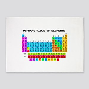 Periodic Table of Elements in Neon 5'x7'Area Rug