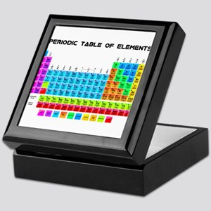 Periodic Table of Elements in Neon Keepsake Box