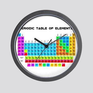 Periodic Table of Elements in Neon Wall Clock