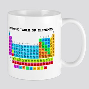 Periodic Table of Elements in Neon Mugs