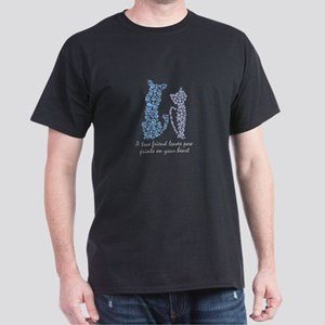 A true friend leaves paw prints on your he T-Shirt