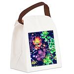 Colorful Plants Canvas Lunch Bag