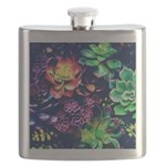 Colorful Plants Flask