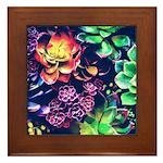 Colorful Plants Framed Tile