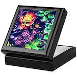 Colorful Plants Keepsake Box