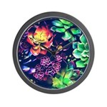 Colorful Plants Wall Clock