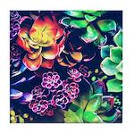 Colorful Plants Tile Coaster
