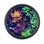 Colorful Plants Large Wall Clock