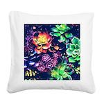Colorful Plants Square Canvas Pillow