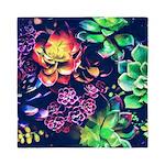 Colorful Plants Queen Duvet