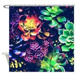 Colorful Plants Shower Curtain