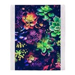 Colorful Plants Throw Blanket
