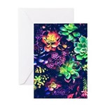 Colorful Plants Greeting Cards