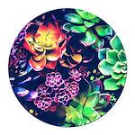 Colorful Plants Round Car Magnet