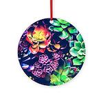 Colorful Plants Round Ornament