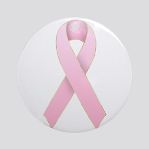Pink Ribbon 1 Ornament (Round)