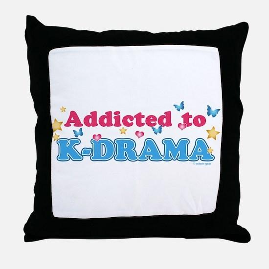 Addicted to K-Drama Throw Pillow