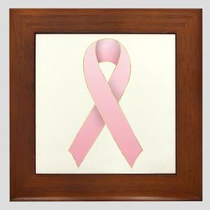 Pink Ribbon 1 Framed Tile