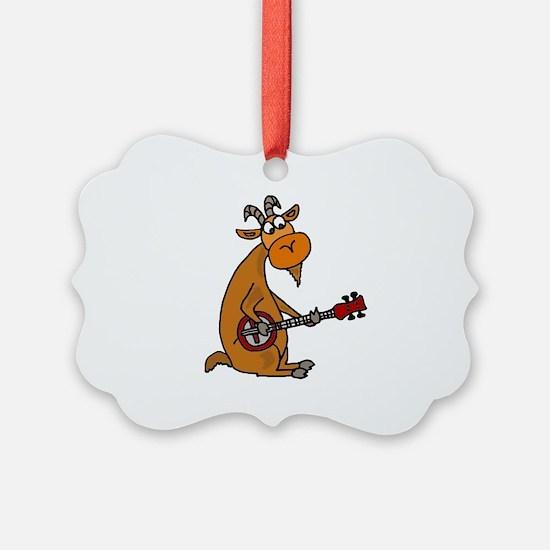 Goat Playing Banjo Ornament