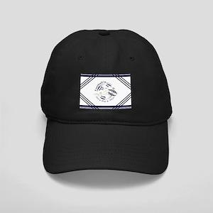 Navy Blue and White Football Soccer Baseball Hat