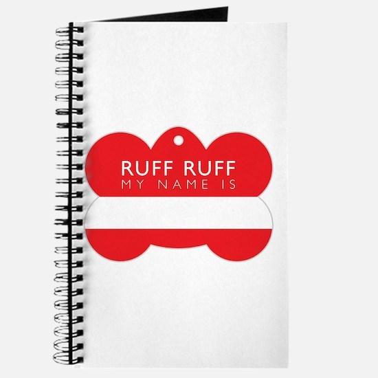 Ruff Dog Tag Journal