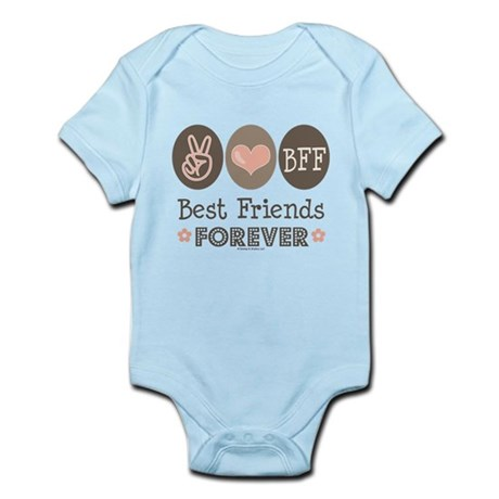 Peace Love BFF Friendship Infant Bodysuit
