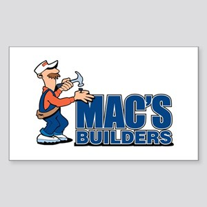 Mac's Builders Rectangle Sticker
