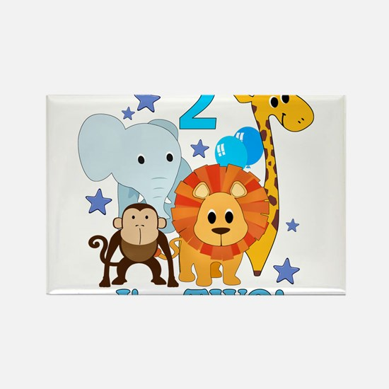 2nd Birthday Jungle Magnets