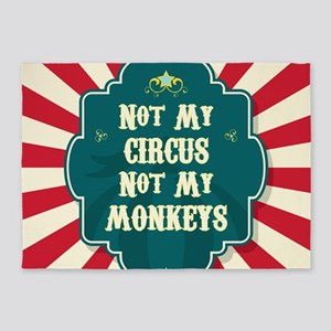 Not My Circus 5'x7'Area Rug