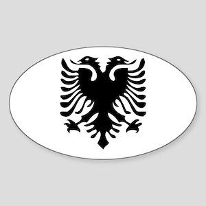 Albanian Eagle Oval Sticker