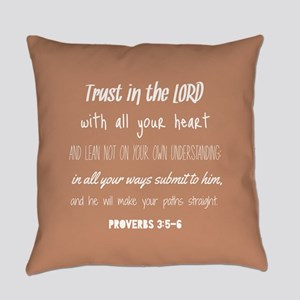 Bible Verse Gifts Proverbs 3:5-6 Everyday Pillow