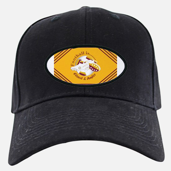 Claret and Amber Football Soccer Baseball Hat