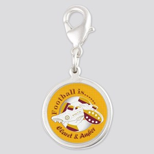 Claret and Amber Football Soccer Charms