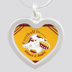 Claret and Amber Football Soccer Necklaces